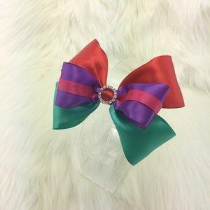 Princess Hair bow ribbon w/ alligator clip
